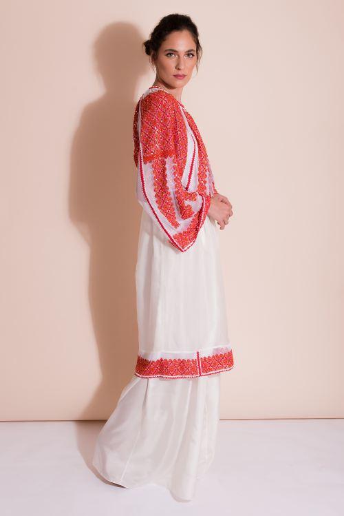 Rochie cu bluza tip ie traditionala lucrata manual