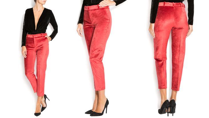 Pantaloni catifea Izabela Mandoiu