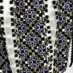 Bluza tip ie cusuta manual cu tulle asimetric Izabela Mandoiu 3