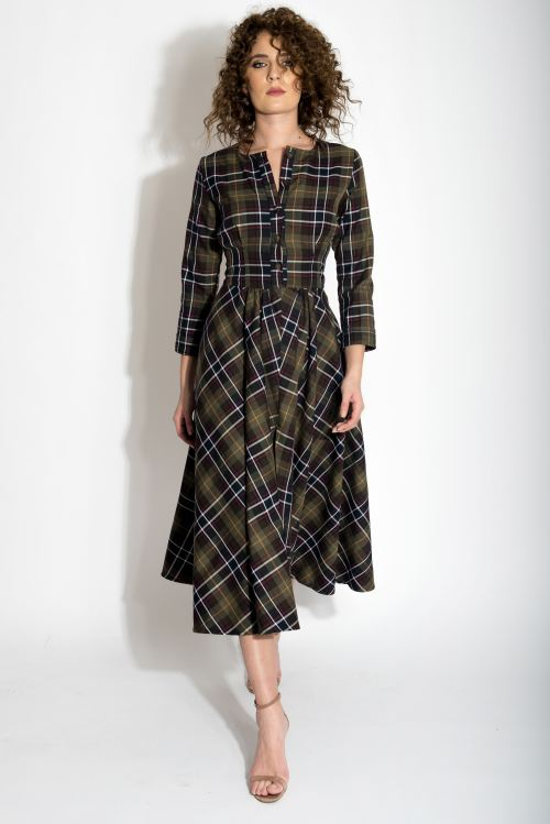 Rochie stofa lana cu nasturi Izabela Mandoiu