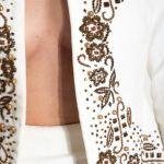 Jacheta din catifea de bumbac cu margele cusute manual Izabela Mandoiu 3